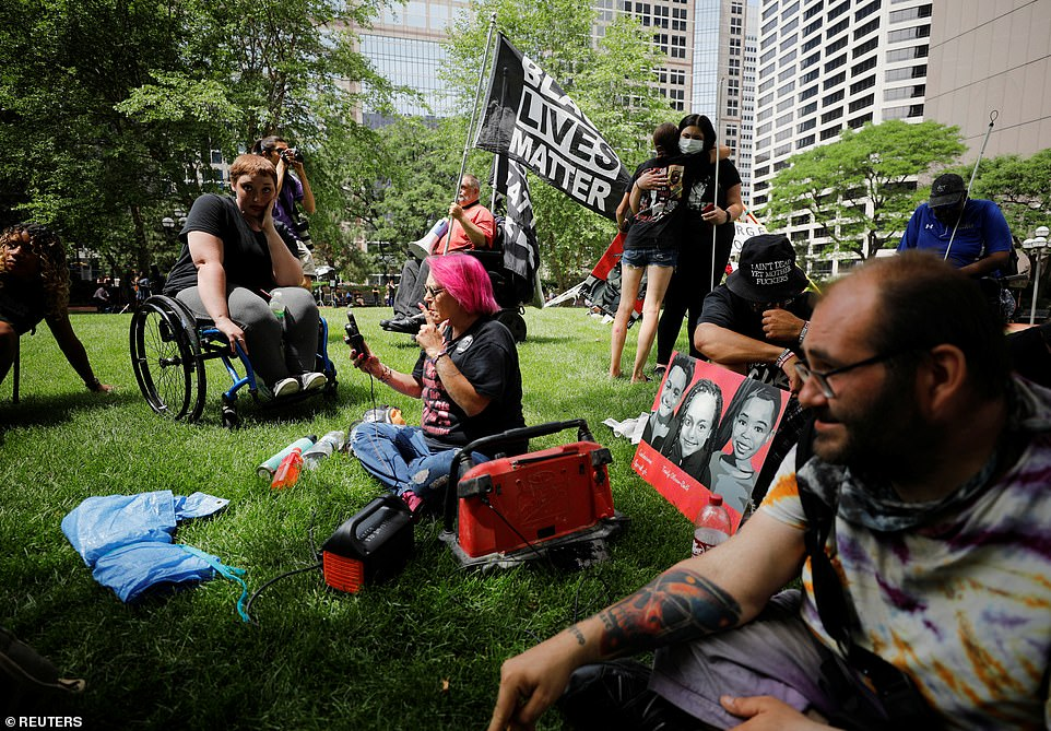 Emotions ran high outside the courthouse as those gathered waited for news