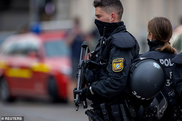 Armed police at the scene on Friday.Local media earlier reported multiple stabbings in Wurzburg, a city of some 130,000 people south-east of Frankfurt