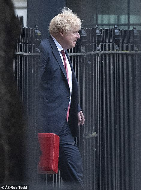 Mr Javid was appointed by Boris Johnson (pictured today) over the weekend after Matt Hancock resigned after an affair with his aide was revealed