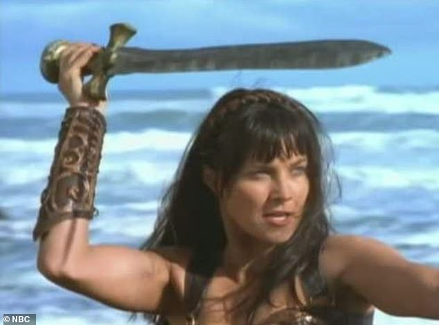 According to her website, Ms Grant started as the stunt double to Lucy Lawless, who played the title character Xena: Warrior Princess (pictured)