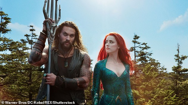 Actress: Amber's latest working project will see her return to the Aquaman franchise for her highly anticipated sequel, Aquaman and the Lost Kingdom (pictured with Jason Momoa in the 2018 film)