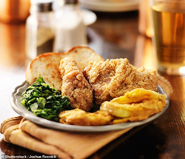 Eating a southern-style diets that include heavy fats and sugars could increase the risk of sudden cardiac arrest by 46 percent a study finds