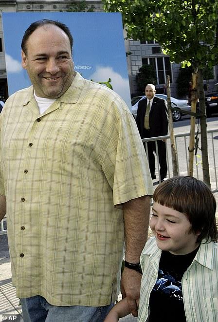 Michael pictured with dad JamesGandolfini in 2007