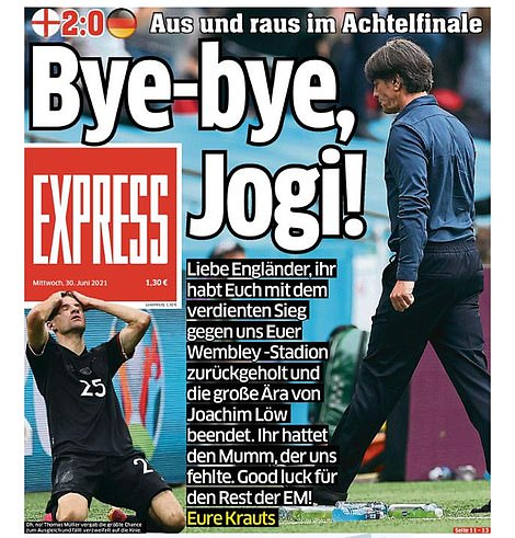 Germany's newspapers reflected on the end of Joachim Low's time in charg