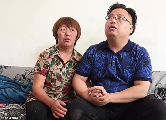A few months after being kidnapped, motherZhou Jiaying (left) managed to escape, but was not able to take her young son with her