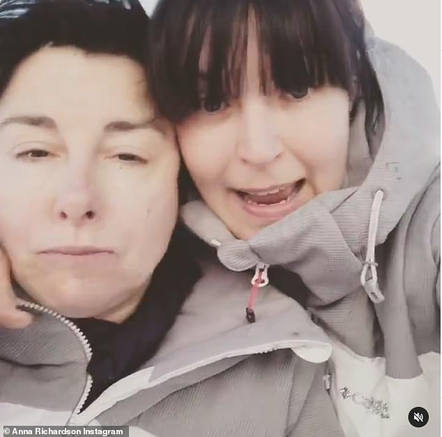 Breakup: Sue Perkins and Anna Richardson have reportedly split up after eight years together