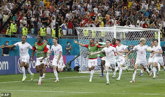 There was a huge outpouring of emotion as Switzerland beat France on penalties to progress