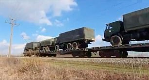 Russian military hardware rolls into Ukraine