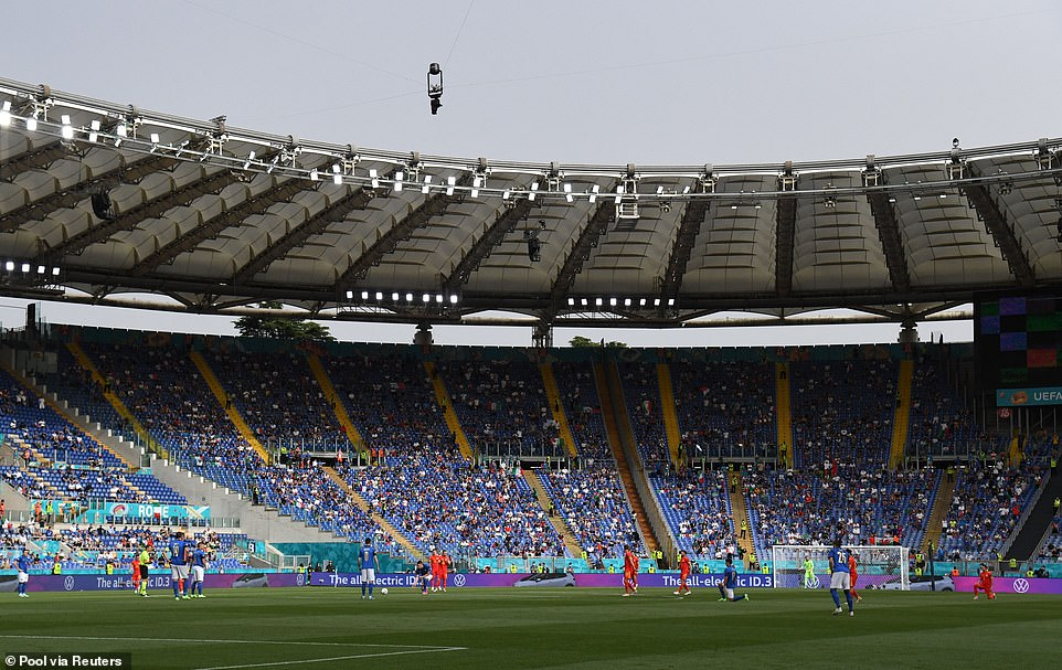 Expats in Dubai said they can travel to the Stadio Olimpico (pictured) after the United Arab Emirates and Italy opened a bilateral travel corridor for all passengers earlier this month