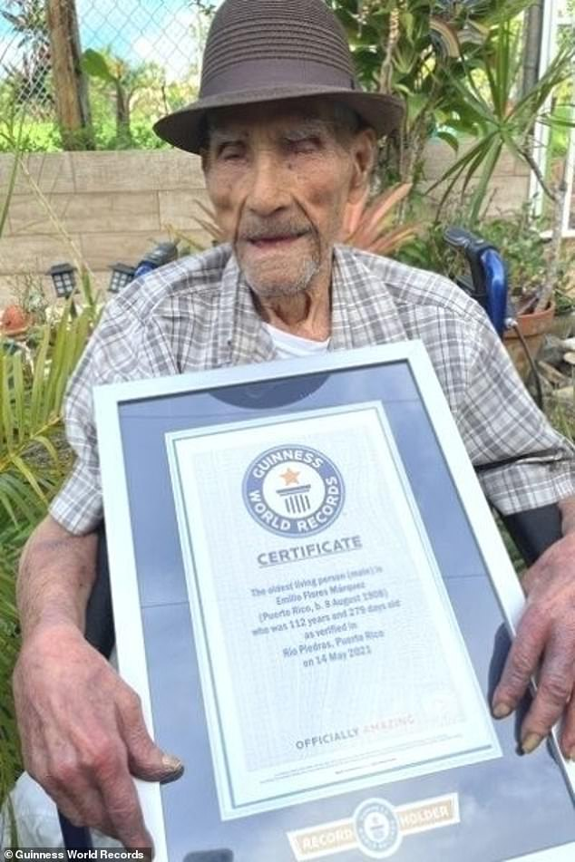 Emilio Flores Márquez,a Puerto Rican former sugarcane farmer who has been confirmed by Guinness World Records as the world's oldest living man