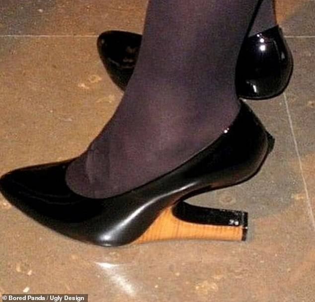 Put your best foot forward with these shoes, where the unique heels is horizontal and not vertical