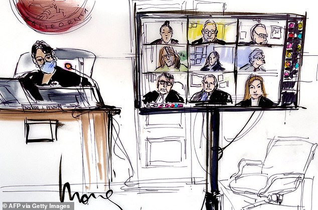 A court sketch from inside the Los Angeles County Courthouse, with Judge Brenda Penny presiding. The June 23 hearing caused shockwaves around the world