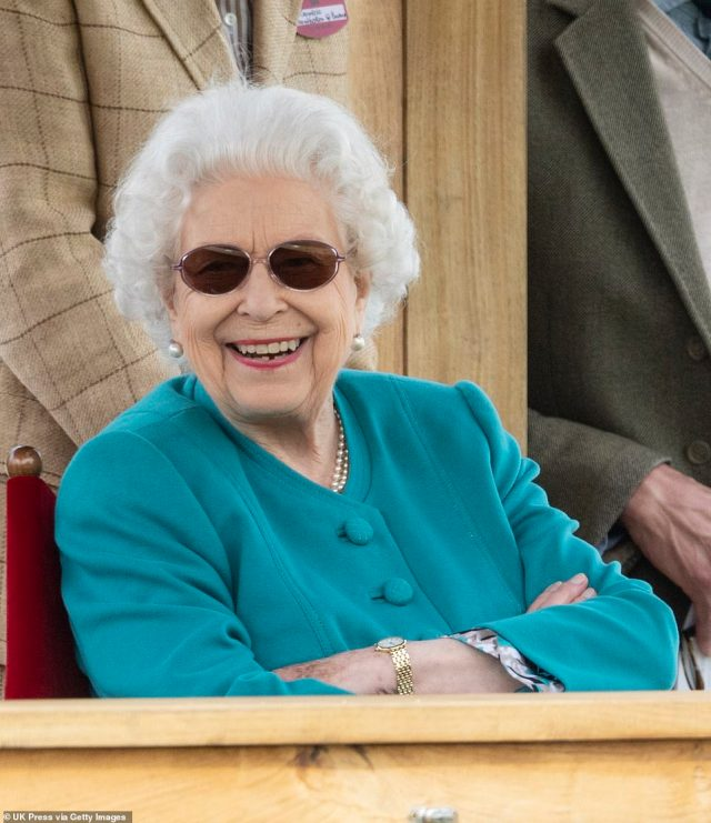 Harry may be meeting the Queen (pictured), who was back at Windsor on Thursday after a tour of Scotland