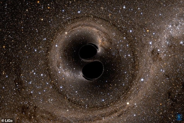 The team made this breakthrough using data from GW150914, the first gravitational waves detected, which was created by two inspiraling black holes (artist impression) that formed a new one - an even that released a large amount of rippling energy through space time