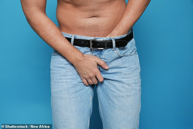 The man's member 'buckled against his partner's perineum', or the area between the anus and genitals, before it a 3cm tear opened at its base
