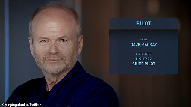 Dave Mackay will be piloting the Virgin Galactic spacecraft