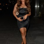 Demi Jones puts on a leggy display in black mini dress for her 23rd birthday celebrations in London 💥💥