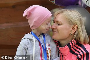 """Dina Khimich (pictured right) released a statement about Iryna's death on Facebook: """"Irochka has died. Her heart stopped yesterday. Sorry Sunshine, we couldn't save you this time."""""""