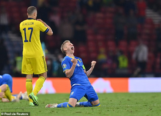 Oleksandr Zinchenko is one of the Manchester City players to star at the Euros