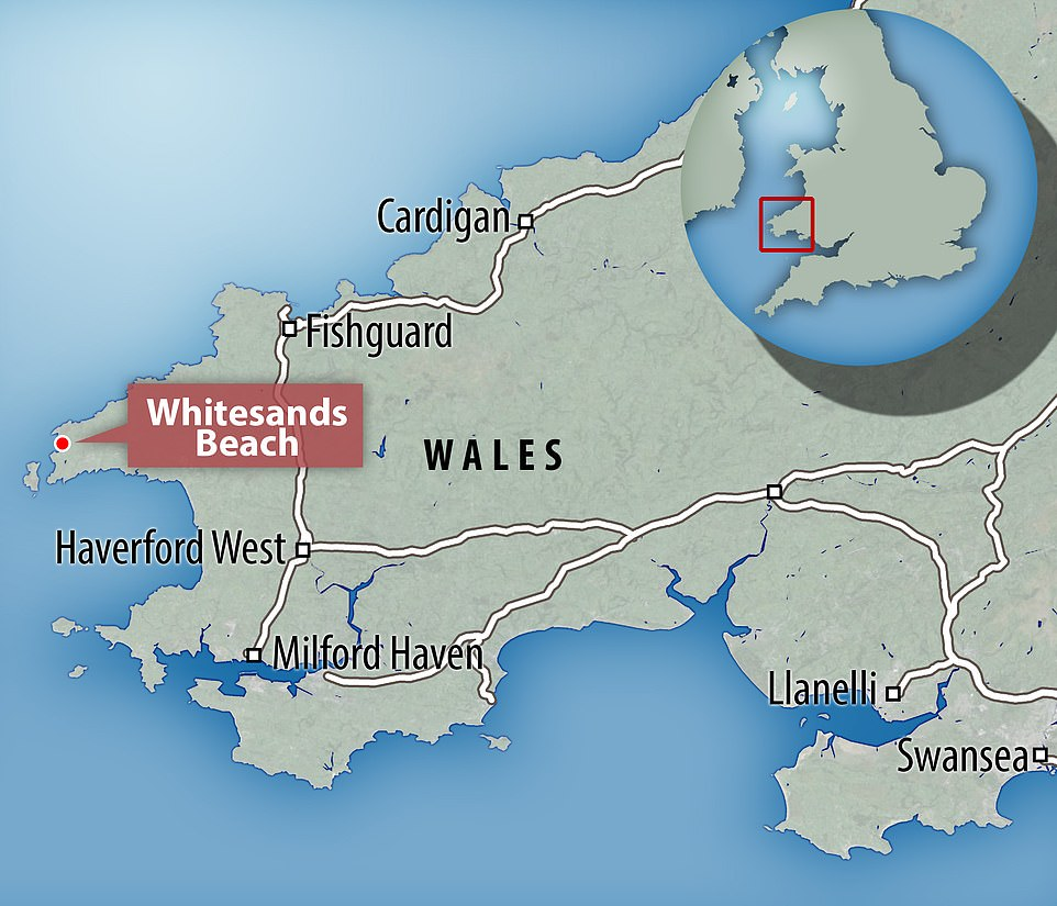 Whitesands Bay is a popular location for families on sunny days. It's a Blue Flag beach near the city of St David's in west Wales