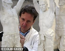 Harry and William selected renowned artist Ian Rank-Broadley (pictured) to carry out the work, which was unveiled in the grounds of Kensington Palace today