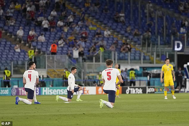 Some speculated online that the crowd could have been booing the Ukrainians for not kneeling, but boos have thundered from Three Lions fans at every game thus far, irrespective of whether or not the opposition has joined England in kneeling