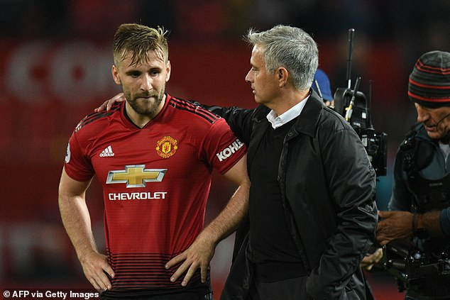 Mourinho, who fell out with Shaw at Man United, criticised the defender's set-piece taking