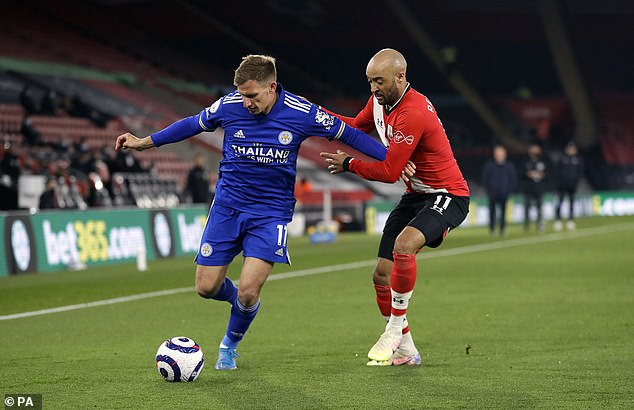 Leicester winger Marc Albrighton (left) is in talks over a move to Burnley this summer