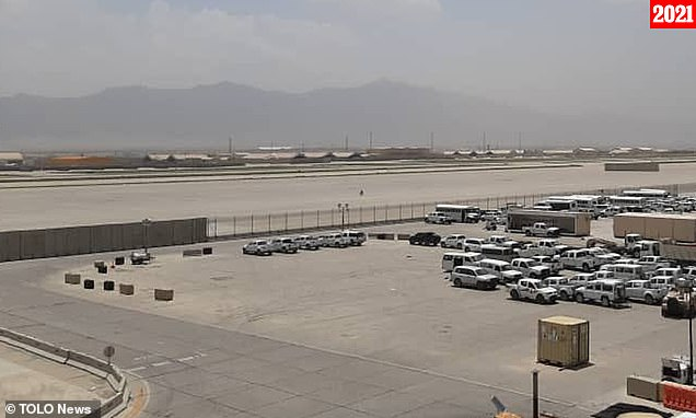 Bagram Airfield after the last US troops left