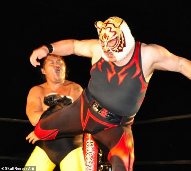 Skull Reaper A-ji is not only a professional wrestler, but also a councilman in Oita City, Japan. He was elected to the council in 2013 thanks to a campaign that focused on educational reform and social welfare