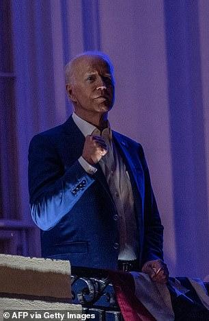 Joe Biden watched fireworks rom the White House balcony on July 4, 2021