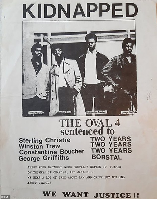 The final member of the Oval Four - four young black men who were 'fitted up' by a corrupt police officer nearly 50 years ago - finally had his conviction overturned in March last year
