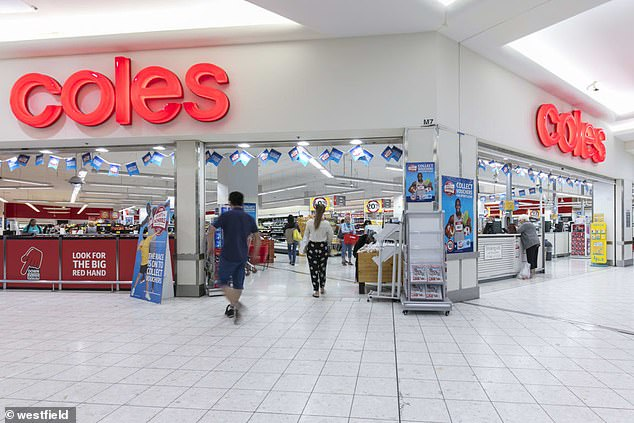 The situation is also worsening in Sydney's west, with customers of the Coles at Westfield Parramatta (pictured) and Country Growers grocery store told to isolate for 14 days regardless of whether they get a negative Covid test result