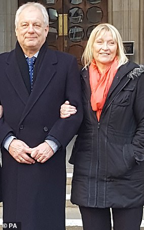 Stephen Simmons with his wife Sue