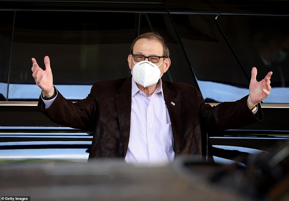 CEO of Centene Corporation Michael Neidorff arrived at Sun Valley, which is thrown by investment bank Allen & Company