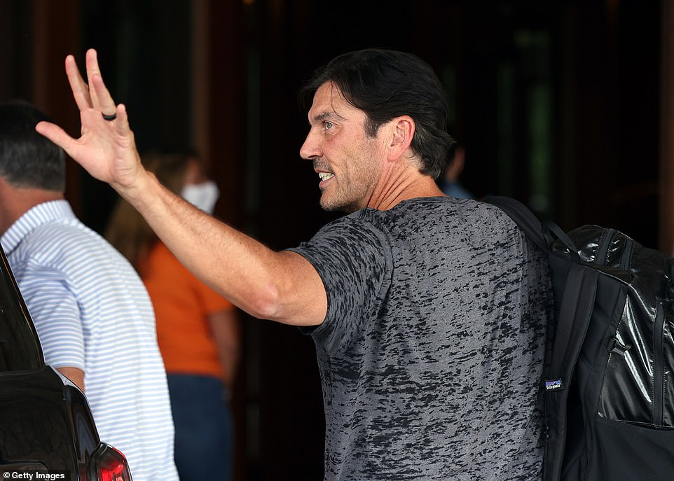 Former AOL CEO Tim Armstrong arrived Tuesday, the conference was on hiatus last year due to the coronavirus