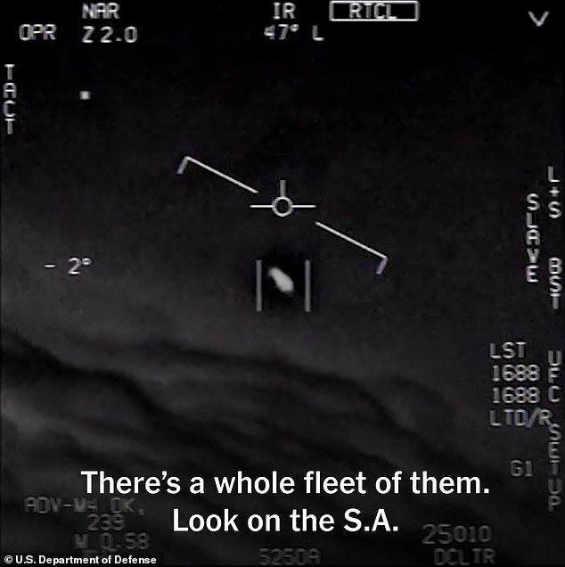 One of the videos was captured off the coast of Jacksonville, Florida, in 2015 (pictured)