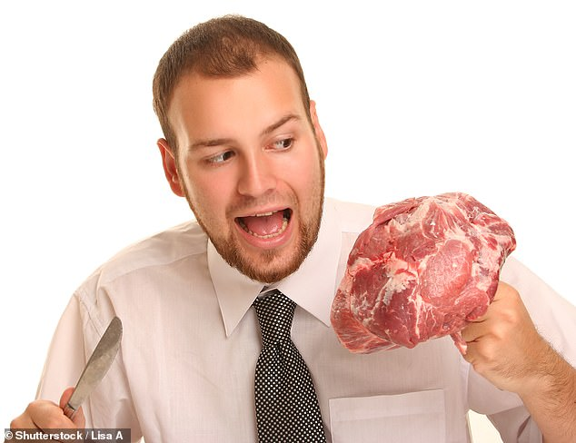 Responses indicated that, among men, a greater conformity to traditional gender stereotypes was associated with both more frequent consumption of two types of meat — beef (pictured) and chicken — and lower levels of openness to vegetarianism (stock image)