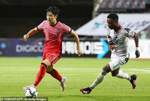 Valencia forward Lee Kang-in (left) is the key man in South Korea's Under-23 squad