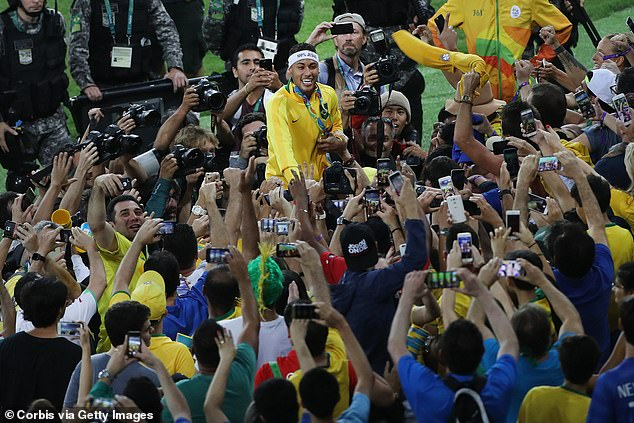 Neymar was the star of the show when Brazil won gold at the 2016 Olympics in Rio de Janeiro