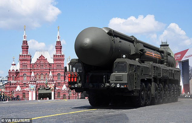 A Russian Yars carrying an intercontinental nuclear missile system drives during the Victory Day Parade in Red Square in Moscow, Russia, June 24, 2020