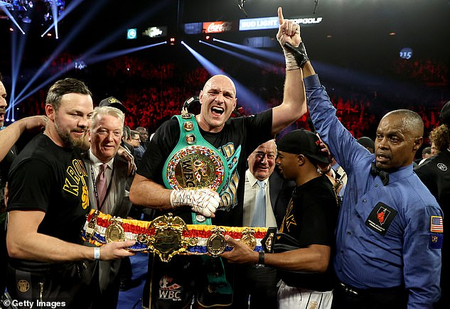 Fury, now WBC World Champion, hasn't fought since beating Wilder in February 2020