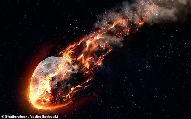A series of city-sized asteroids (like illustrated) bombarded the early Earth between 2.5–3.5 billion years ago — striking with a frequency of one impact every 15 million years