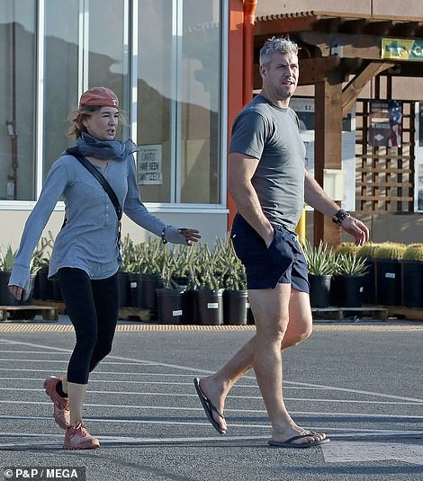 Keep it simple: The new couple kept their shopping trip quick and minimal and only purchased multiple bundles of firewood