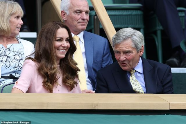 It is unclear if Ms Bartoli broke royal protocol by revealing what she discussed with the Duchess of Cambridge, who is attending today's Wimbledon singles final before making her way to Wembley to join her husband and son Prince George to watch the Euro 2020 final
