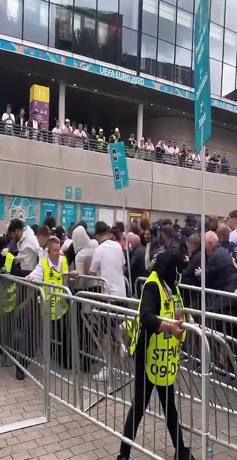 Fans stormed through the barriers