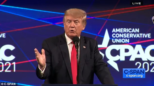 'Never forget that the radical left is not the Majority in this country—we are the Majority, and it's not even close,' Trump said as he took aim against 'Biden's border crisis', corruption in Big Tech, rising crime, Democrats' proposed tax increases and the too-swift withdrawal of troops from Afghanistan