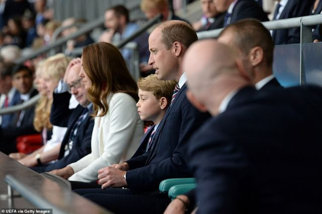 The royals had their eyes glued on the pitch as they watched England's valiant effort against Italy tonight