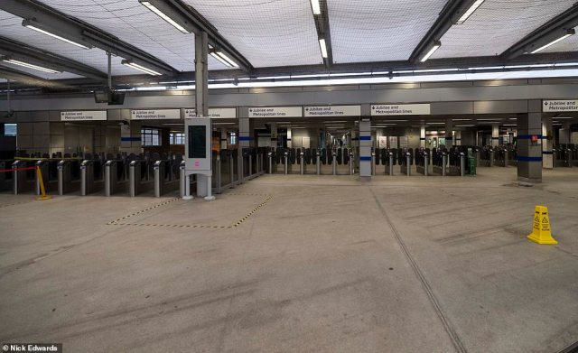 Wembley Park Tube station had been rammed until the early hours this morning but was deserted this morning