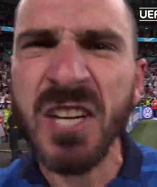 Italy talisman Leonardo Bonucci goaded England fans in the aftermath of the shoot-out victory